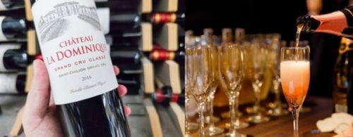 シャンパーニュまたは赤ワイン