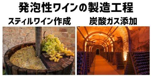 発泡性ワイン(Sparkling Wine)の製造工程